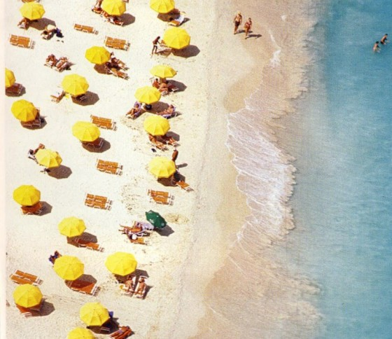 Beach - yellow umbrellas