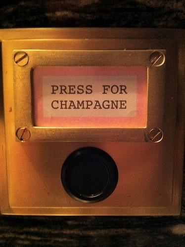 Champagne Buzzer via Pink Wallpaper