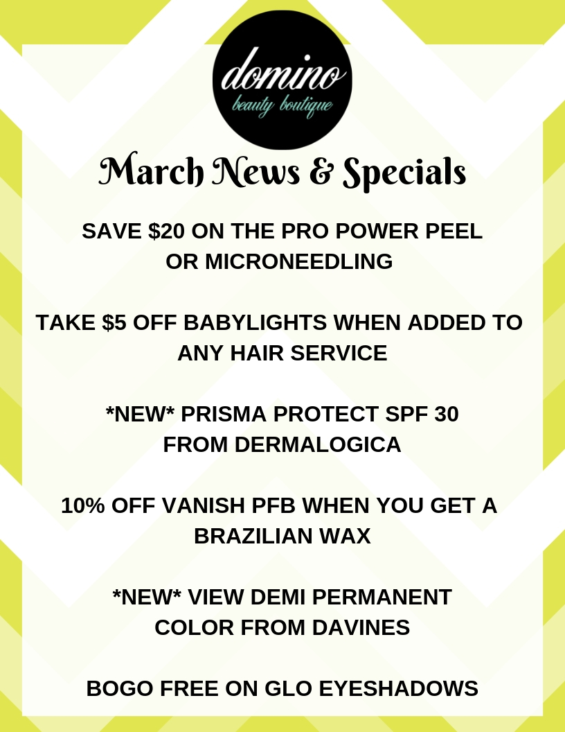 Hello March!  Monthly News +Promotions